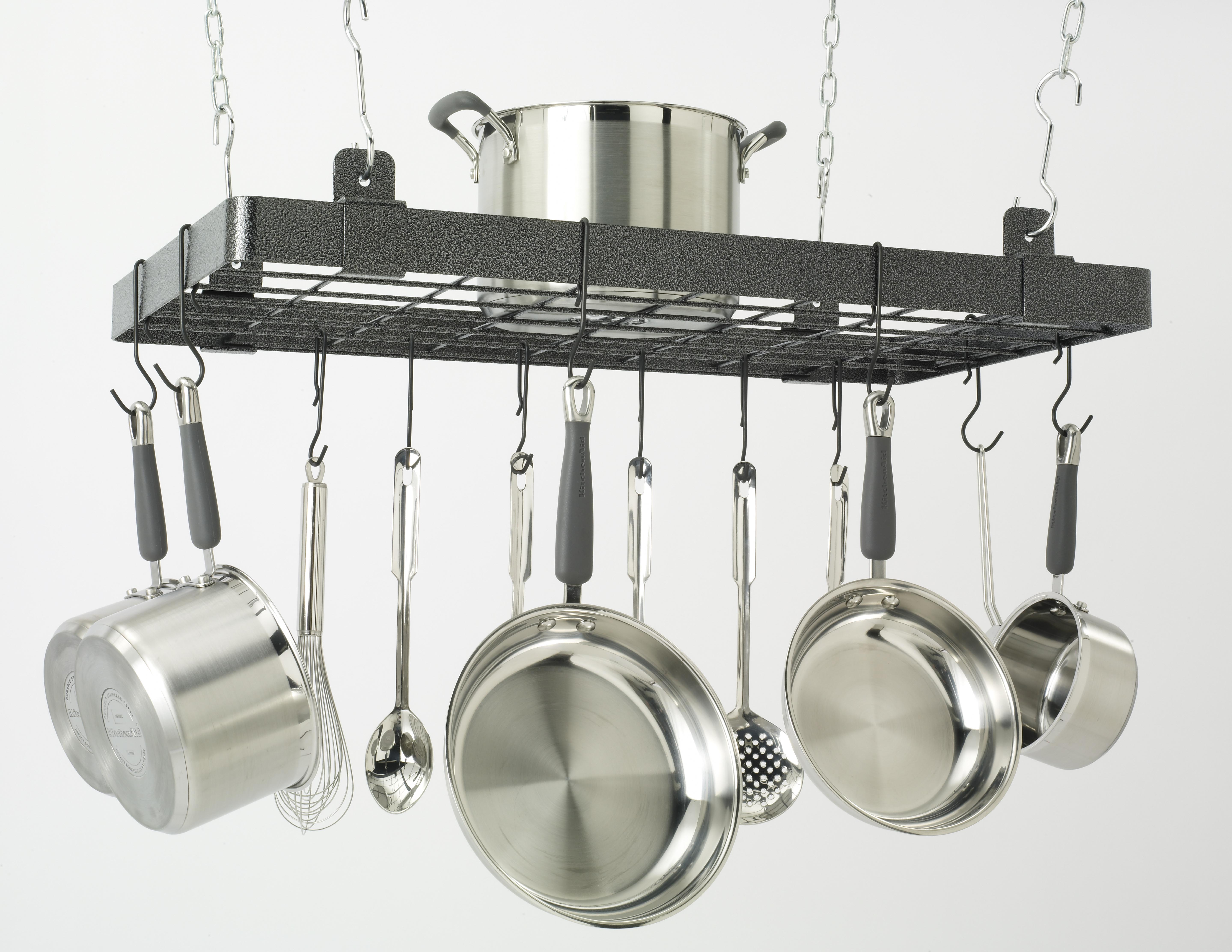 Designer Kitchen Pot Rack by Jay Rinaldo for Storage Technology